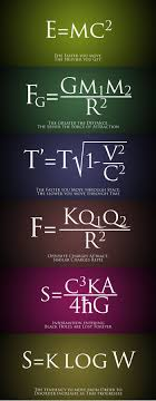 not much of a math physics person but this is cool words of wisdom found in math formulas