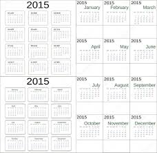 Simple 2015 Calendar Simple 2015 Calendar Universal Pattern Week Starts With Sunday With