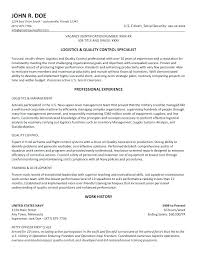 Examples On How To Write A Resume Best Logistics Resume Samples Resume Format For Logistics Job Good Resume