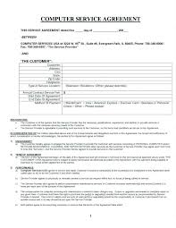 Yearly Contract Template