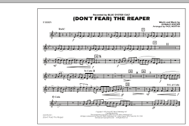 don t fear the reaper sheet music dont fear the reaper