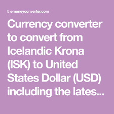 Icelandic Krona To Canadian Dollar Chart Currency Converter To Convert From Icelandic Krona Isk To