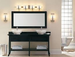 spa bathroom lighting. Wonderful Kichler Bathroom Lighting Minimalist Modern Style White Sink Black Table Mirror Wall Sconces 3 Light Spa