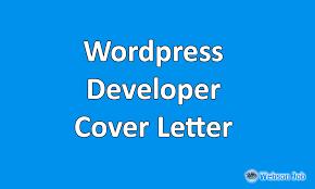 Wordpress Developer Cover Letter Sample Example And Format Webson Job
