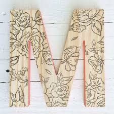 Baby Monogram Wall Decor Decorative Wood Wall Letter Hanging Wall Letter Tribal Baby