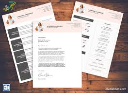 Resume Cv Template Cover Letter For Ms Word Creative Resume With