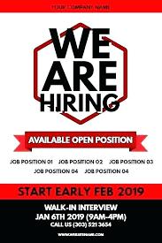 Job Offer Advertisement Template