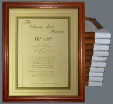 ten 10x8 inch teak wood picture frames