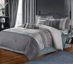 12pc euphoria grey aqua luxury bedding set bed in a bag looking intended for and inspirations
