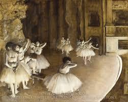 edgar degas ballet rehearsal on stage oil painting reion