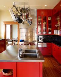 Bright Colored Cabinet Kitchen Transitional With Small Kitchen Appliances  Dishwasher