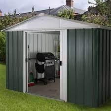 9 x 7 7 apex metal garden shed