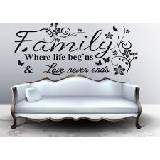 Shop Full Color Family Quote Wall Art Vinyl Decals Stickers Quotes Magnificent Wall Sticker Quotes
