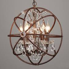 4568 lights rustic iron crystal orb sphere pendant lamp light in sphere light fixtures ideas