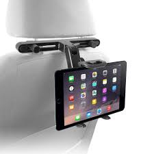 adjustable car seat head rest mount and holder for 7 in 10 in tablets and other gadgets