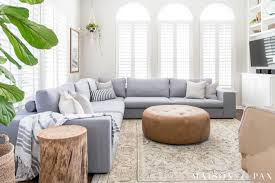 bright living room design with sectional maison de pax