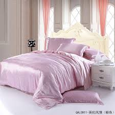 Small Picture English Style Pink Duvet Cover Set Silk Bedding Luxury Bedding