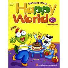 Sách - Tiếng Anh Cho Trẻ Em - Happy World - 2a (Bộ 2 quyển, 1 sổ tay, 1 đĩa  DVD)