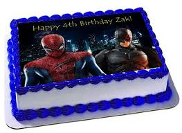superhero sheet cake spiderman vs batman edible cake topperfrosting