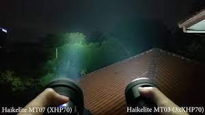 Side by Side: Haikelite MT07 Haikelite MT03 - YouTube