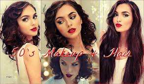 pin up curly hairstyles unique 50 s makeup faux curly bob for long hair