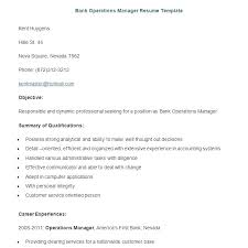 Operations Manager Resume Sample Resume Examples For Banking Banker Resume Samples Banking Resume