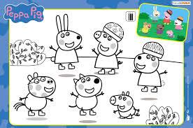 Les Coloriages De Peppa Pig Zouzous Dessins Anim S Pour Les Coloriage Peppa Pig L