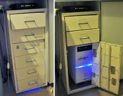 IKEA's Helmer filing cabinet is no stranger to computer hacks, but most  recently it's found a purpose in life as a computer cabinet for one IKEA  hacker's ...