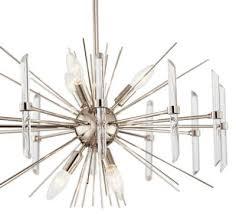 kichler 44275pn eris six light chandelier polished nickel