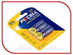<b>Батарейка</b>, <b>AAA</b>, <b>PKCELL</b>, EXTRA, (R03P-4B), солевая, 4, шт.