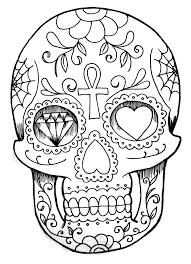 Skull Coloring Page Halloween Galerie De Coloriages Gratuits