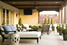 mediterranean outdoor furniture. Mediterranean Outdoor Furniture Cushions With Accent And Garden Stools Balcony Potted Plants I