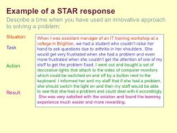 Star Interview Answers Examples Star Question Examples Under Fontanacountryinn Com