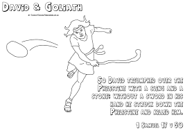 Sunday School Resources David Goliath Coloring Page