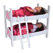 badger basket doll bunk beds ladder storage armoire fits american girl dolls 01856