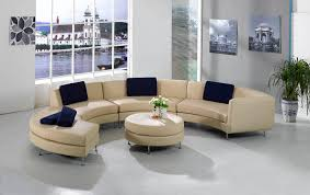 Modern Living Room With Semicircle Sofas Quecasita Simple Luxury Living Rooms Furniture Plans