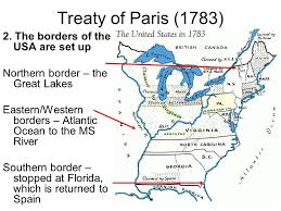 Image result for usa borders 1783