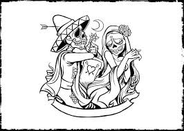 Experience the rich, intricate visual designs of mexican folk art in this dia de los muertos coloring book for adults you'll find over 25 beautifully detailed patterns to color. Free Printable Day Of The Dead Coloring Pages Best Coloring Pages For Kids