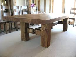 large rustic dining tables pertaining to round set salvaged wood x base table remodel 1