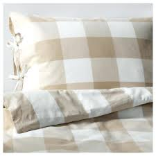 duvet cover and pillowcases beige white thread count red gingham bedding set ikea single full