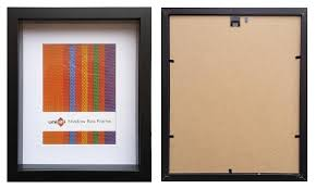 20x25cms black wood 3 d frame shadow box mat fits 15x20cms pict with clear glass and stand