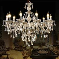 ceiling lights chandelier crystal cognac color luxury modern 10 lights living room bedroom dining room lighting ideas