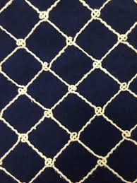 Small Picture Navy Nautical Rope Upholstery Fabric By The Yard Coastal