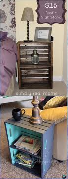 diy rustic wood crate nightstand instructions diy wood crate furniture ideas projects
