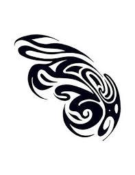 Klasické Tribal Nalepovací Tetování Motiv 2