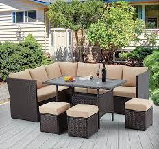 u max 7 pieces outdoor patio