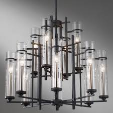 feiss lighting ethan eight light linear chandelier with decorative lighting manufacturers for modern interior home design