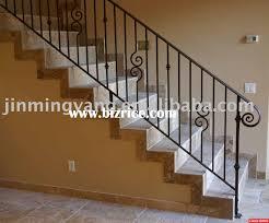 Wrought Iron Handrails Wrought Iron Stair Handrails Bizricecom