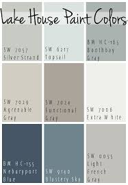 Gray paint colors come in blue, green and pink undertones when viewed individually and without a context, it can be hard to tell what makes each shade different light gray paint colors need touches of black (via accents), and work best in chic bedrooms, classic living areas and contemporary kitchens. Lake House Blue And Gray Paint Colors The Lilypad Cottage