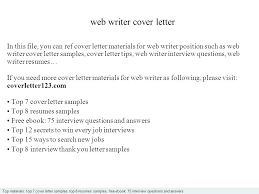 Writer Cover Letter Technical Writer Cover Letter No Experience ...